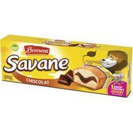 Brossard Savane Chocolat gâteaux marbrés, sachets individuels 7 gâteaux 189g