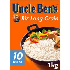 UNCLE BEN'S Riz long grain prêt en 10 min 1kg