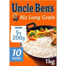 Uncle Ben's riz long grain 10mn cuisson rapide 5x200g -1kg