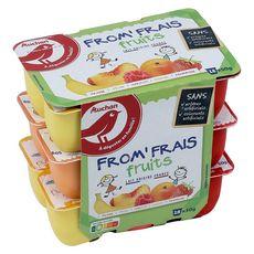 AUCHAN Fromage frais aux fruits 18x50g