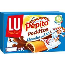 Pépito Pockitos biscuits fourrés au chocolat au lait, sachets individuels 1