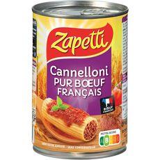 ZAPETTI Cannelloni pur bœuf français sauce napolitaine 1 personne 400g