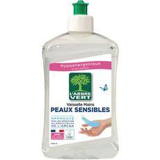 L'ARBRE VERT Liquide vaisselle et mains écologique peaux sensibles 500ml