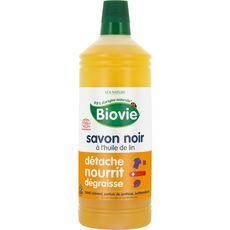BIOVIE Nettoyant savon noir écologique à l'huile de lin 1l