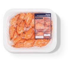 AUCHAN LE POISSONNIER Crevettes cuites 80/120 200g