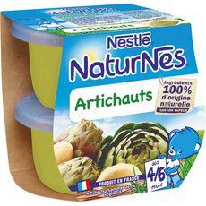Nestlé Naturnes bol aux artichauts dès 4 mois 2x130g