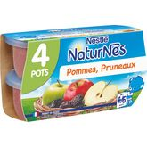 Nestlé Nestlé Naturnes petit pot dessert pommes et pruneaux dès 4 mois 4x130g