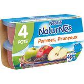 Nestlé Nestlé Naturnes pomme pruneau 4x130g dès 4 mois