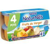 Nestlé Nestlé Naturnes petit pot dessert aux fruits du verger dès 6 mois 4x130g