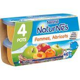 Nestlé Nestlé Naturnes petit pot dessert pommes et abricots dès 4 mois 4x130g