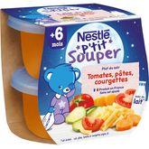 Nestlé Nestlé P'tit souper bol tomates courgettes et pâtes dès 6 mois 2x200g