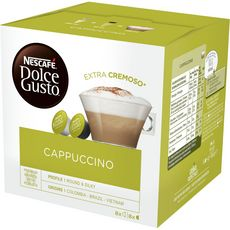 DOLCE GUSTO Capsules de café cappuccino 16 capsules 186g