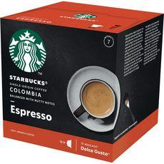 STARBUCKS Capsules de café Colombia compatibles Dolce Gusto 12 capsules 66g