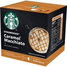 STARBUCKS Capsules de café caramel macchiato compatibles Dolce Gusto 2X6 capsules 127g