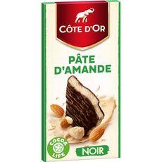 COTE D'OR Tablette de chocolat noir fourré à la pâte d'amande 1 pièce 150g