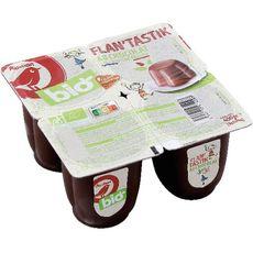 AUCHAN BIO Flan au chocolat filière responsable 4x100g