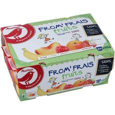AUCHAN Fromage frais aux fruits 24x50g
