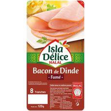 ISLA DELICE Bacon de dinde fumé halal 8 tranches 120g
