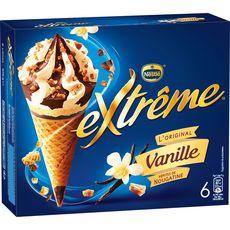 EXTREME Extrême Cône glacé à la vanille 426g 6 pièces 426g