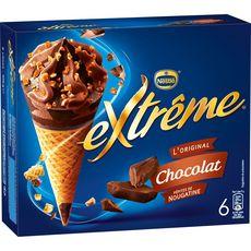 EXTREME Extrême Cône glacé au chocolat 426g 6 pièces 426g