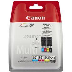 Canon Cartouches d'encre pack cli551 noir et couleur