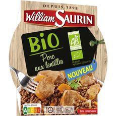 WILLIAM SAURIN William Saurin Porc au lentilles bio sans conservateur en barquette 280g 1 personne 280g