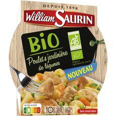William Saurin Poulet et jardinière de légumes bio sans conservateur 280g