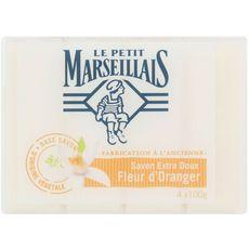 LE PETIT MARSEILLAIS Le Petit Marseillais Savon extra doux à la fleur d'oranger 4x100g 4x100g
