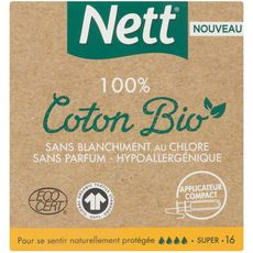 NETT Nett tampon bio avec applicateur super x16