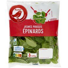 AUCHAN Auchan Jeunes pousses d'épinards 125g 125g
