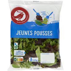 Auchan Mélange de jeunes pousses : épinards et laitues 125g