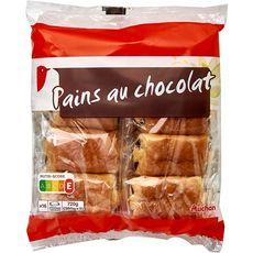 AUCHAN Pains au chocolat 16 pièces 720g