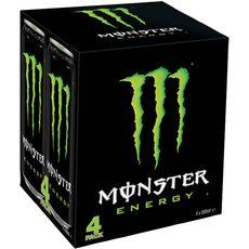 Monster energy Boisson énergisante à la taurine et au ginseng btes 4x50cl