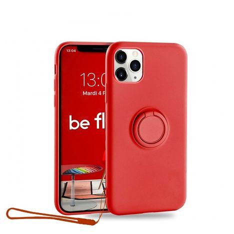 MOXIE Coque BeFluo® pour Apple iPhone 11 Pro Max avec Ring Holder intégré - Rouge