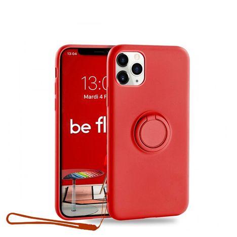 MOXIE Coque BeFluo® pour Apple iPhone 11 Pro avec Ring Holder intégré - Rouge