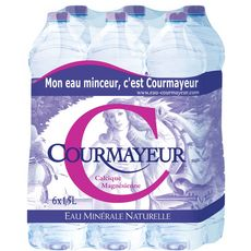 Courmayeur Eau minérale naturelle plate 6x1,5l