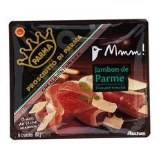Auchan Gourmet Jambon parme 13 mois de sèche 6 tranches 80g