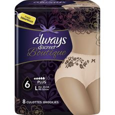 Always Discreet Boutique culottes incontinence plus taille L x8