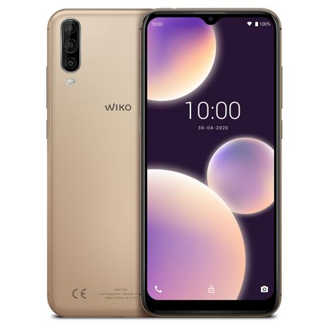 WIKO Smartphone View4 Lite 32 Go 6.52 pouces Or 4G Double port NanoSim