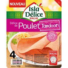 ISLA DELICE Isla delice tranches de poulet tandoori X4 X4