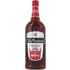 VIA MANZONI Apéritif sans alcool rosso 75cl