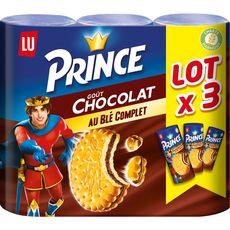 Prince Biscuits fourrés goût chocolat au blé complet Lot de 3 3x300g