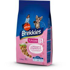 BREKKIES Brekkies croquettes au poulet légumes et riz pour chat junior 1,5kg 1,5kg