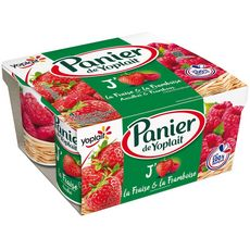 PANIER DE YOPLAIT Yaourt fraise framboise 4x130g