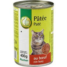 POUCE Boite pâtée au boeuf pour chat 400g