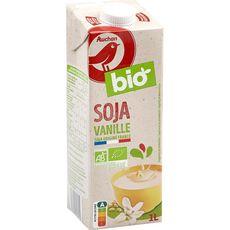 AUCHAN BIO Boisson au soja saveur vanille 1l