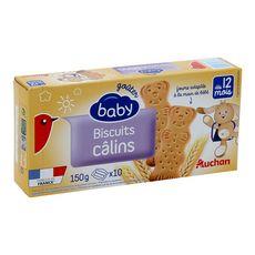 Auchan baby Mon petit goûter biscuits dès 12 mois 150g