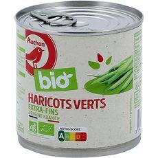 Auchan Bio Haricots verts extra fins 220g