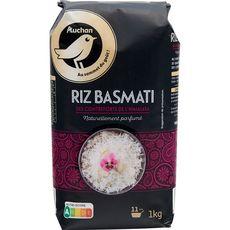 AUCHAN GOURMET Riz parfumé basmati prêt en 11 min 1kg