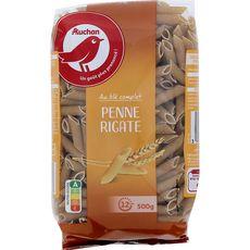 AUCHAN Auchan Penne Rigate au blé complet 500g 500g